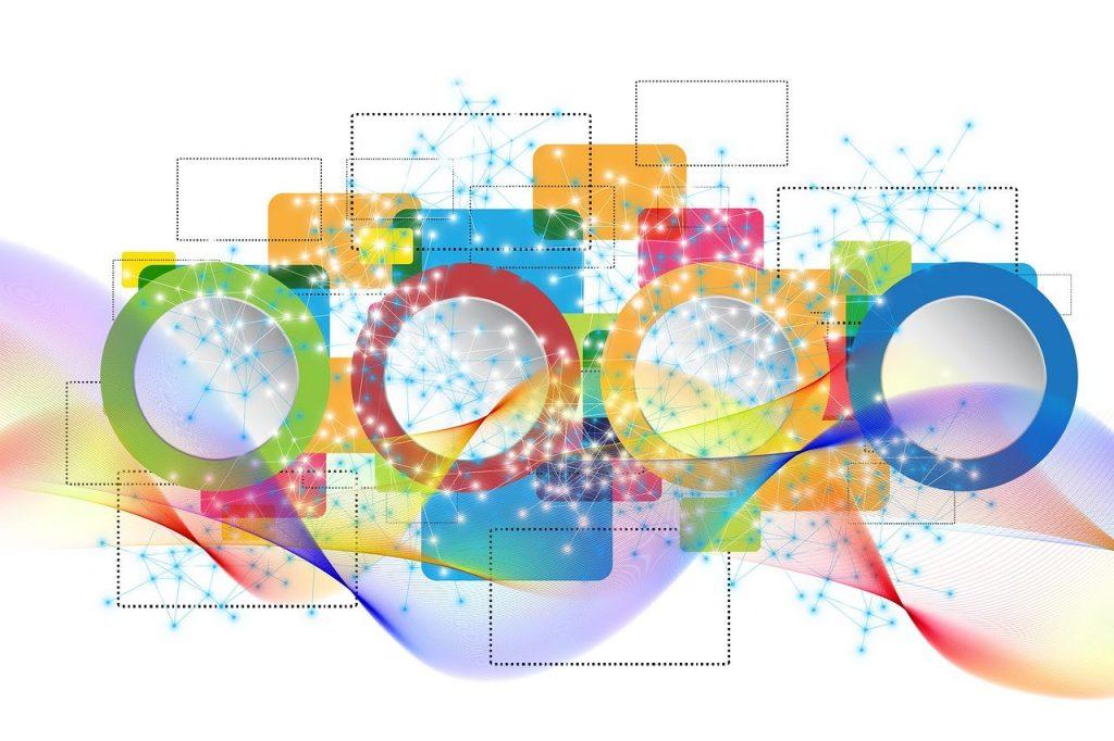 concept, network, web